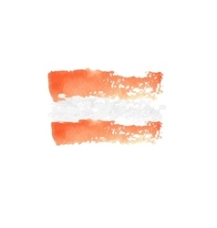 Austrian flag painted by brush hand paints vector
