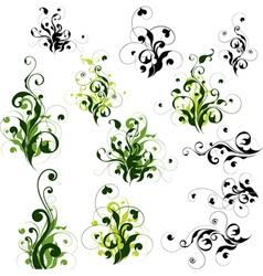 Floral decorations set vector