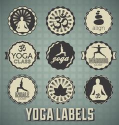 Yoga labels vector