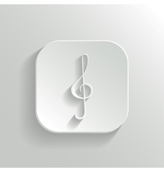 Note key icon - white app button vector