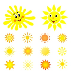 Set of the sun vector