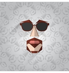 Hipster face vector