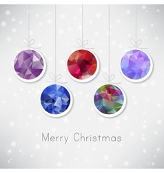 Christmas balls with triangle filling vector