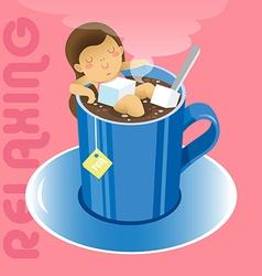 Tea relax vector