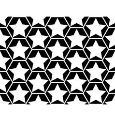 Design seamless monochrome star geometric pattern vector