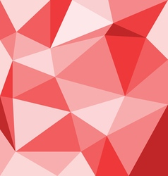 Abstract red 3d interior with polygonal pattern on vector