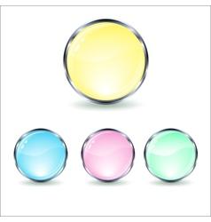 Mint glass button vector