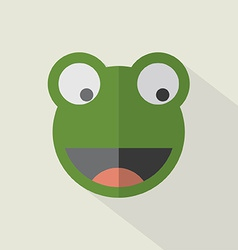 Modern flat design frog icon vector