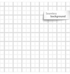 Seamless white sqare tiles texture vector