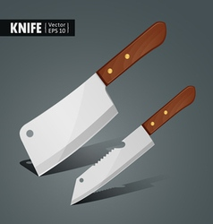 Stainless steel kitchen knife vector