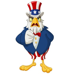 Uncle sam eagle vector