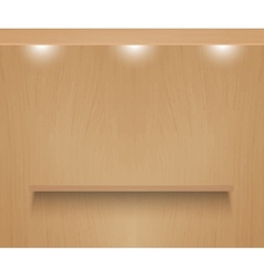 Realistic shelf on wooden wall vector