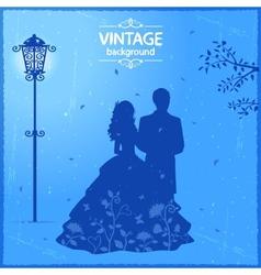 Vintage lovers vector