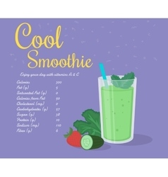 Green cool smoothie vector