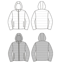 Hooded jacket vector