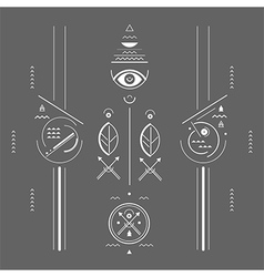 Mystical signs vector