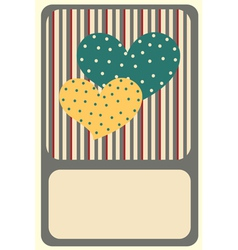 Of retro design greeting card with copy space for vector