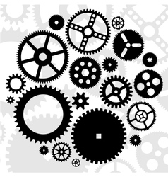 Gears black set vector
