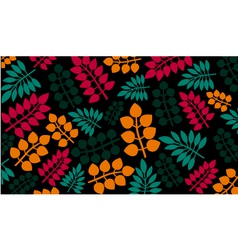 Different leaves on black background vector