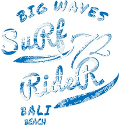 Surf rider typography t-shirt graphics vector