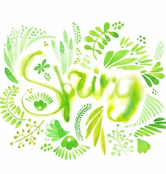 Lettering and elements about spring vector