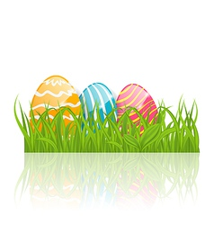 Easter background with paschal ornamental eggs vector