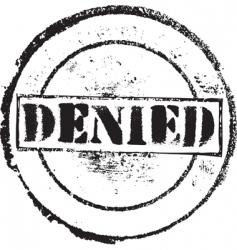Denied stamp vector