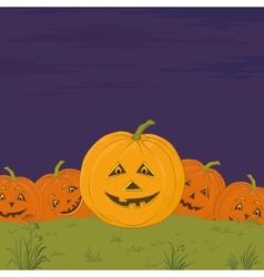 Halloween pumpkins army vector