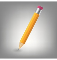 Yellow pencil icon vector