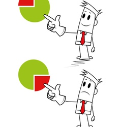 Square guy-pie chart vector