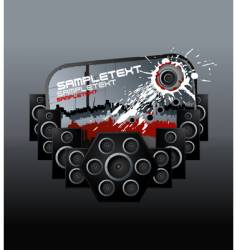 Music speakers bloody design element vector