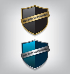 Shield guarantee badge vector