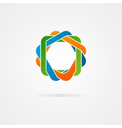 Abstract conundrum logo vector