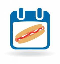 Hot dog sign vector