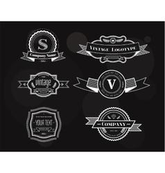 Hipster vintage logo elements set vector
