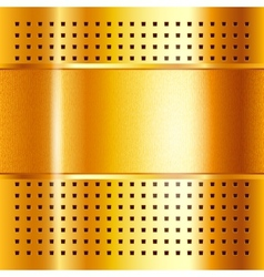 Gold template metallic background 10eps vector