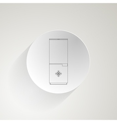 Flat icon for fridge vector