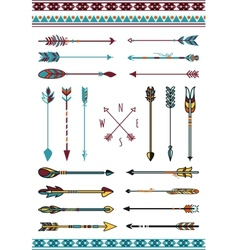 Indian arrows for hipster decor vector