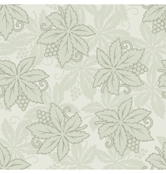 Vintage seamless grapes and leaves vector