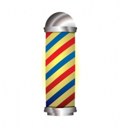 Red and blue barbers pole vector