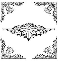 Decor floral frame vector