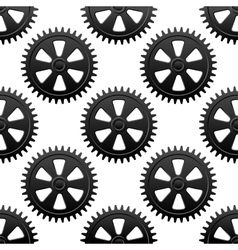 Seamless gears pattern vector