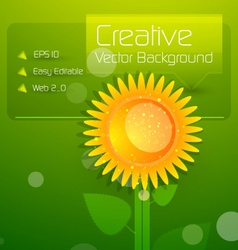Modern sunflower vector