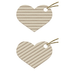 Heart cardboard tag with rope vector