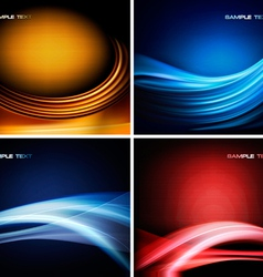 Set of colorful abstract backgrounds vector