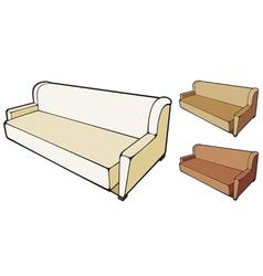 Sofa design vector