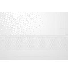 Abstract light grey design vector