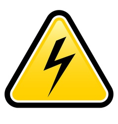 High voltage yellow warning sign vector