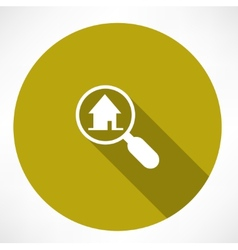 Search house icon vector