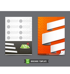 Flyer brochure background template 0008 vector